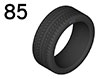 85 Complete wheel and tyre sets