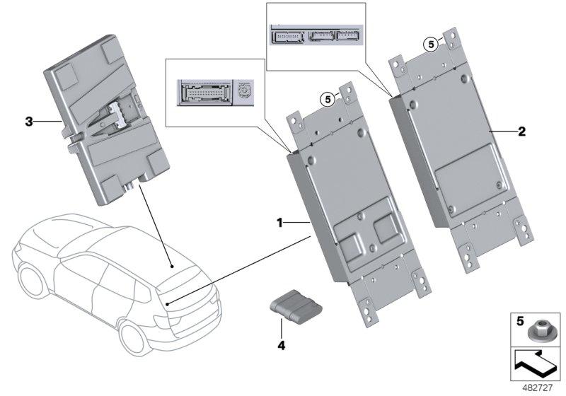 BMW, X3 F25, SAV X3 20dX N47N, IDN, 84 Communication systems