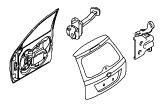 Кузов и лакокрасочное покрытие.Закрываемые элементы кузова