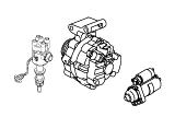 VM25T.Starter Motor/Alternator & Mounts