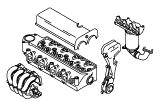 Taunus V6 2.4, 2.9.Cylinder Head/Valves/Manifolds/EGR