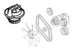 Taunus V6 2.4, 2.9.Engine Cooling