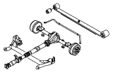 Rear Axle Less Brakes.Rear Axle