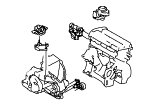 Engine Assemblies Mounted On Body.Engine And Transmission Suspension