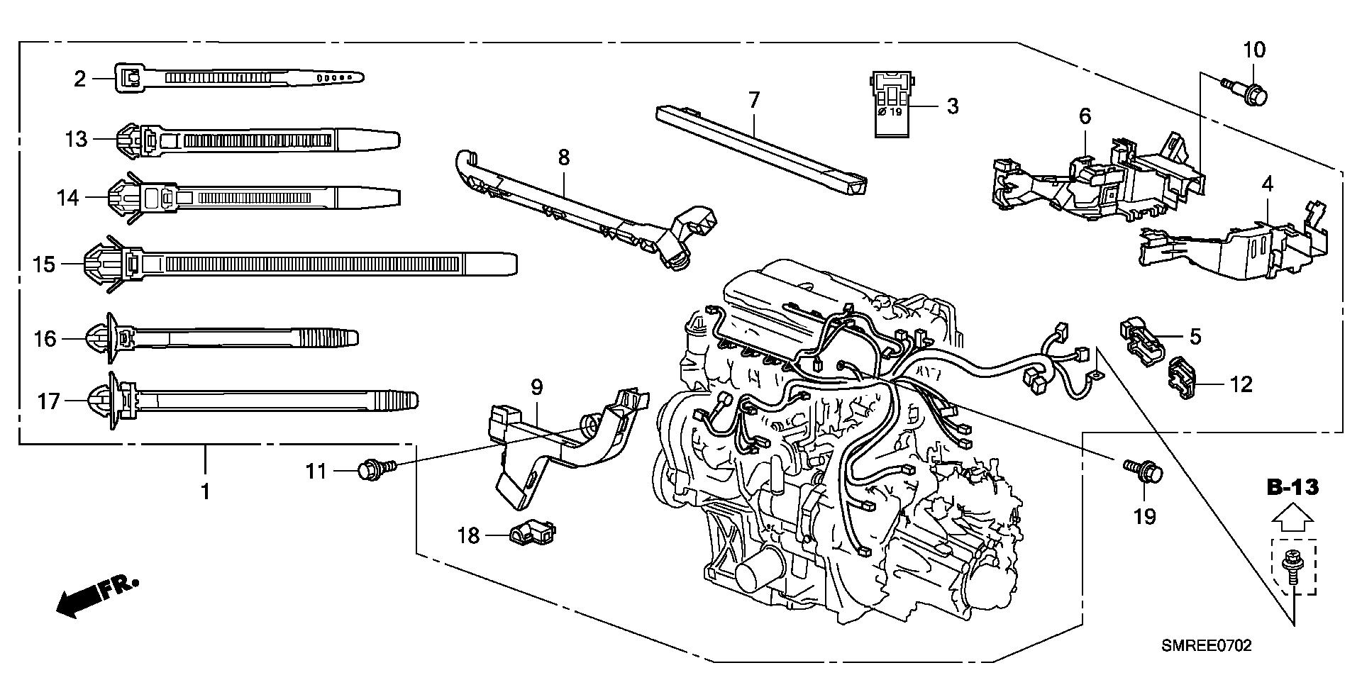 2010 Civic Kg6mt 14 Base E 7 2 Engine Wire Honda Wiring Harness