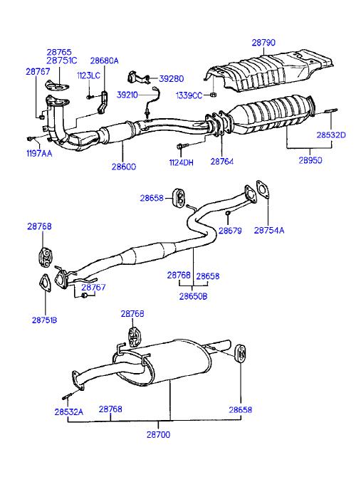 Hyundai 28751-22000 Catalytic Converter Gasket