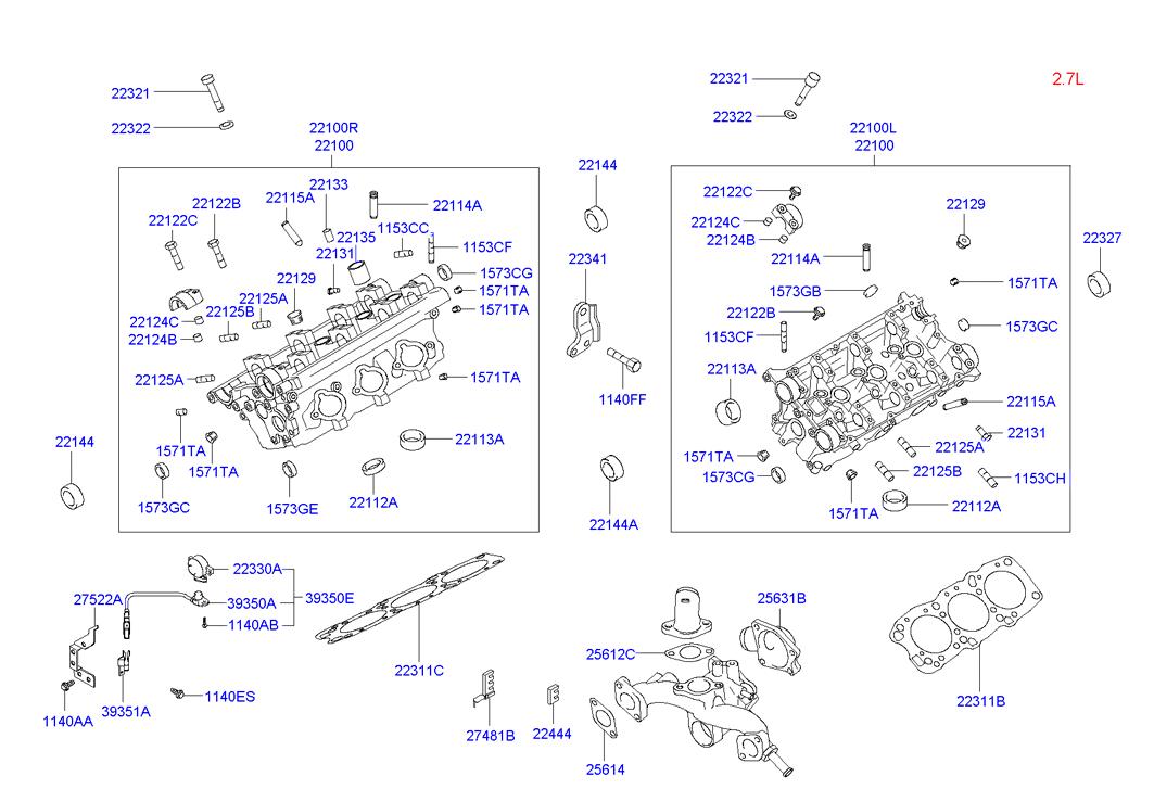 Hyundai 22115-33911 Engine Valve Guide