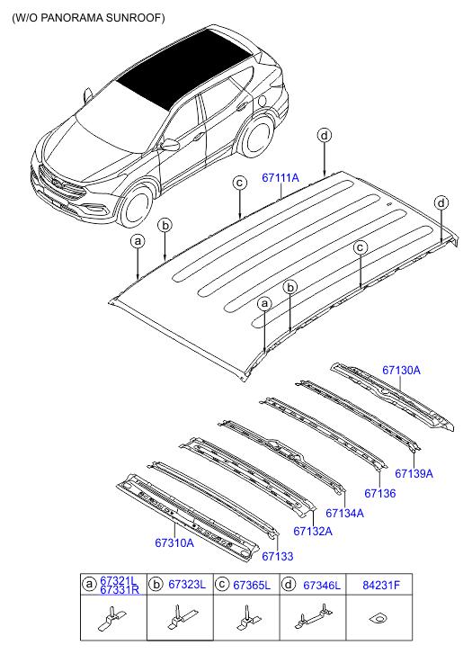 Hyundai Santa Fe Schematic Diagrams Panorama Sunroof Body - Wiring