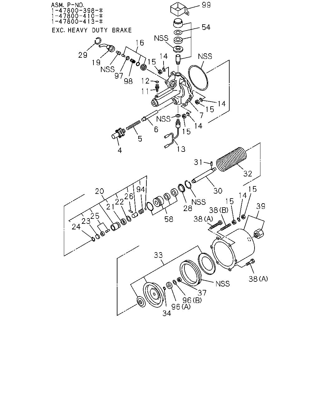F&G, 10625 - FSR-LHD 93 - 95, 3 - Brakes, Brake System, 3-33 - AIR