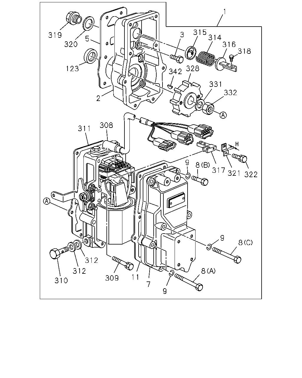 Ce 10806 Exz Rhd Fuel Tank 400l 99 00 0 Engine Emission Electronic Governor Circuit Diagram Parts