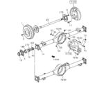 4-20 - REAR AXLE CASE AND SHAFT