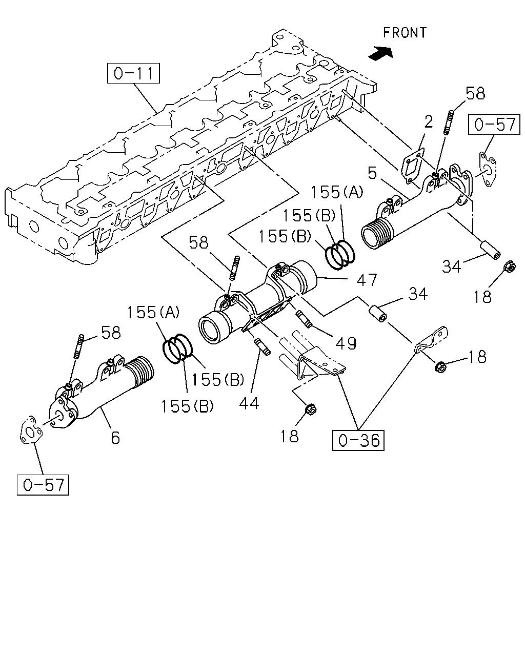 58l Exhaust Manifold Diagram - Wiring Diagrams Dash on