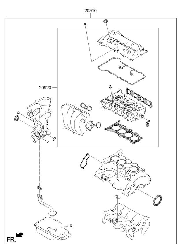 Hyundai Elantra Engine Diagram