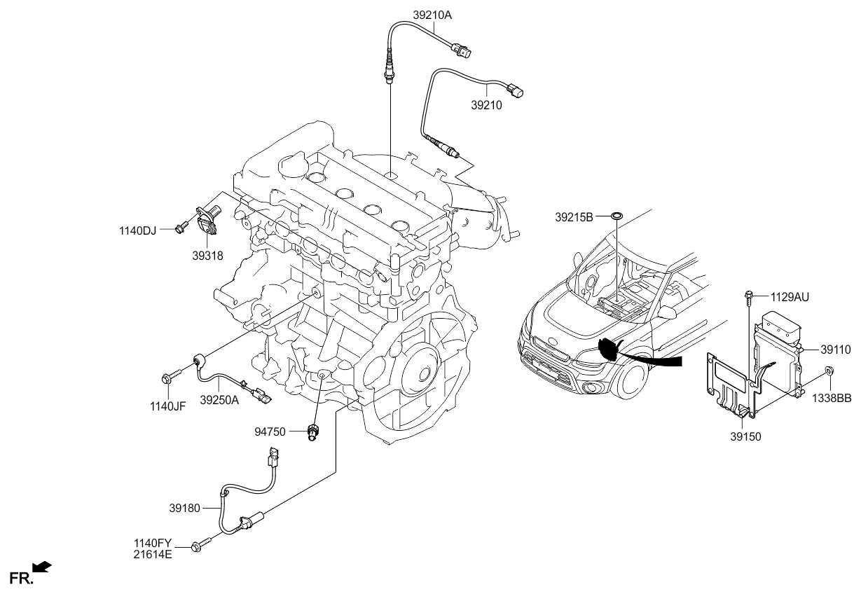 Kia Soul Starter Diagram Along With 2011 Kia Soul Parts Diagram