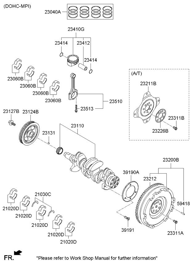 Kia 23041-2E010 Engine Piston