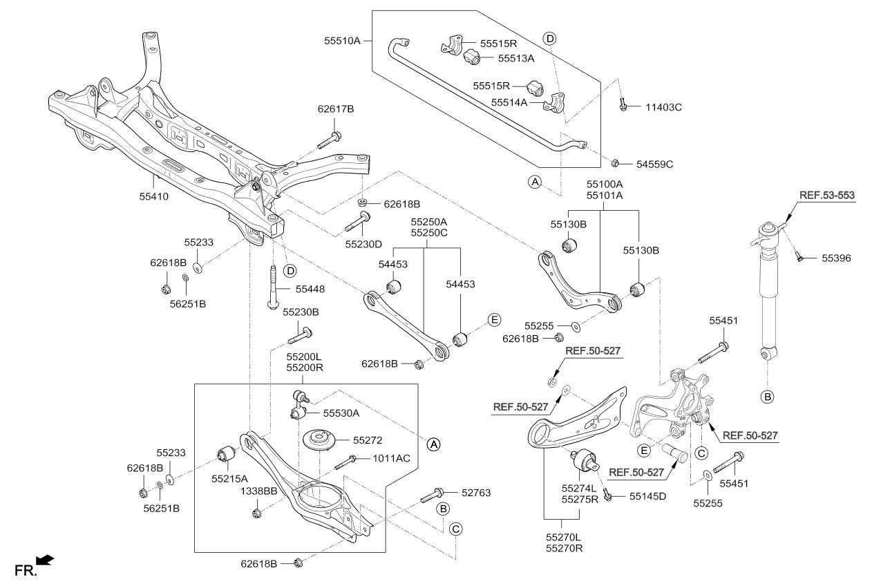Carbolook Hose /& Stainless Banjos Pro Braking PBK1200-CAR-SIL Front//Rear Braided Brake Line