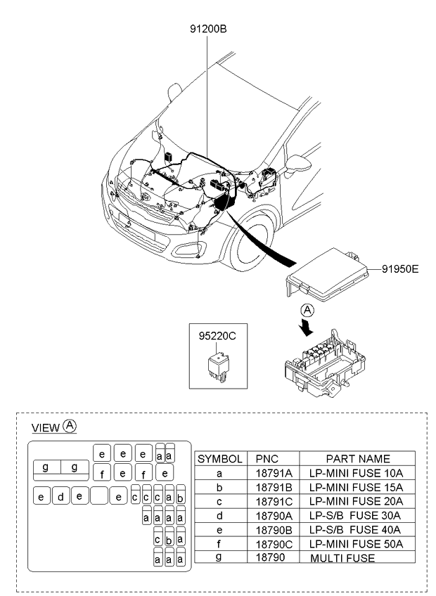 2013 All 2013 Rio 12 2011 2015 Electrical 91912 Front Wiring