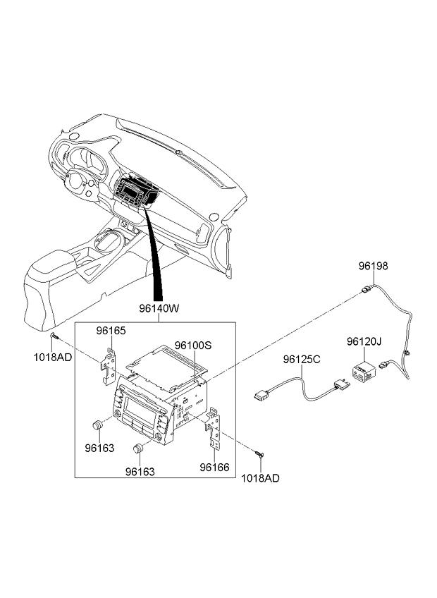 Diagram 2000 Kia Sportage Transmission Knob