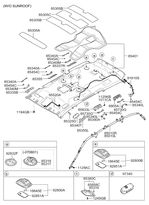 2013 all, 2013 sedona 06 nov 2006 (2006 2014), trim, 81832code, part number, production date, qty, name, description, replacement
