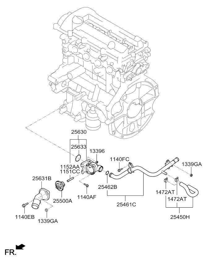Kia Rio Engine Parts Diagram