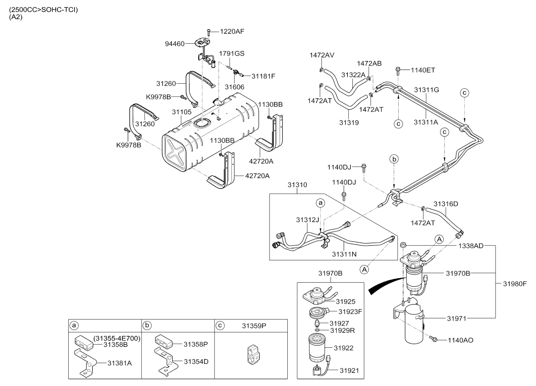 2012 Middle East K2500 K2700 K2900 K300s K4000s 04 Nov2006 Kia Engine Diagram Code Part Number Production Date Qty Name Description Replacement