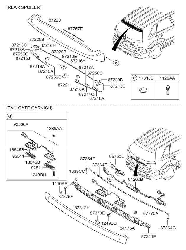 09 Kia Rio Lower Grill Diagram