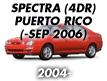 SPECTRA 04 (4DOOR>PUERTO RICO) (2003-2006)