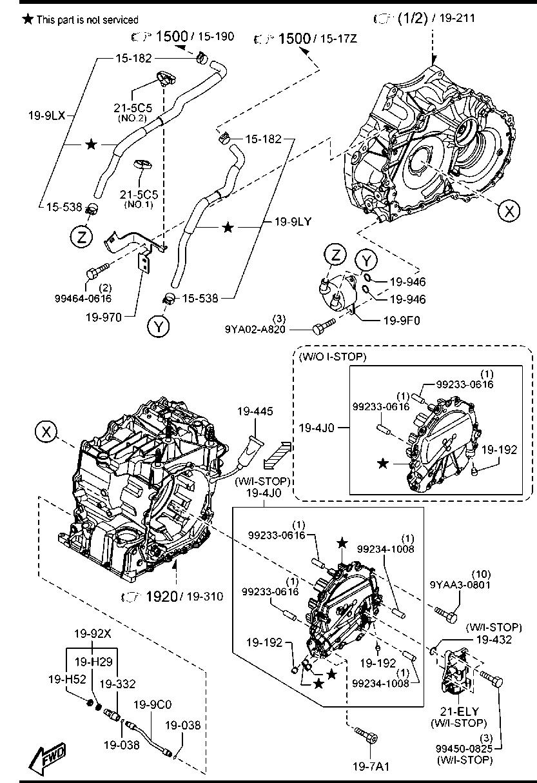 Converters Mazda 6 Engine Parts Diagram Manual Of Wiring Europe Mazda6 Gl 06 2016 Gasoline 4 Cylinder Transmission Rh Catcar Info