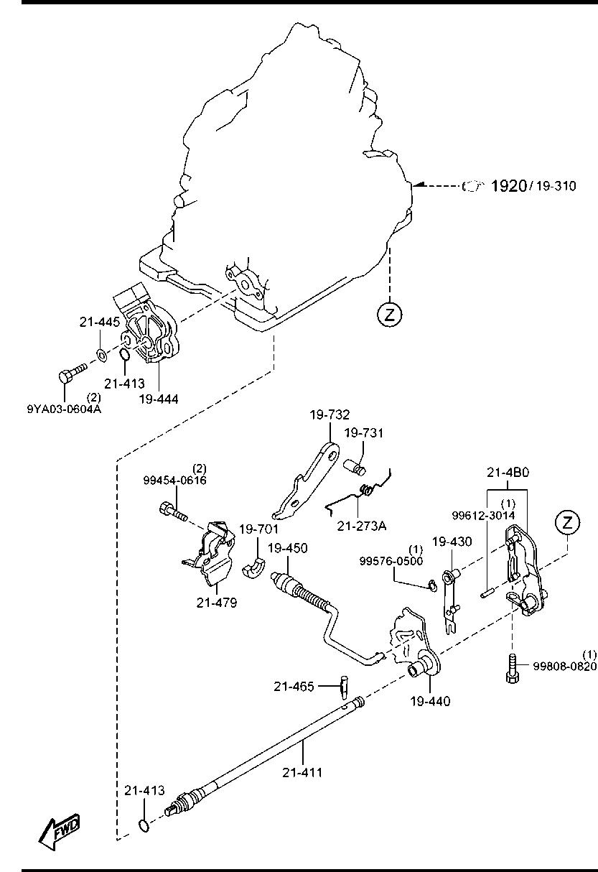 Mazda3 Bn 06 2016 Gasoline Engine 4 Cylinder Transmission Diagram