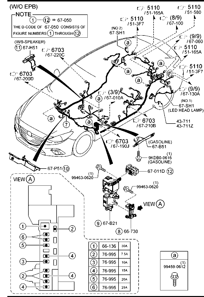 Mazda3 Bn 09 2016 Body Electronics 6700aa Front Rear Mazda 3 Wiring Diagram Door