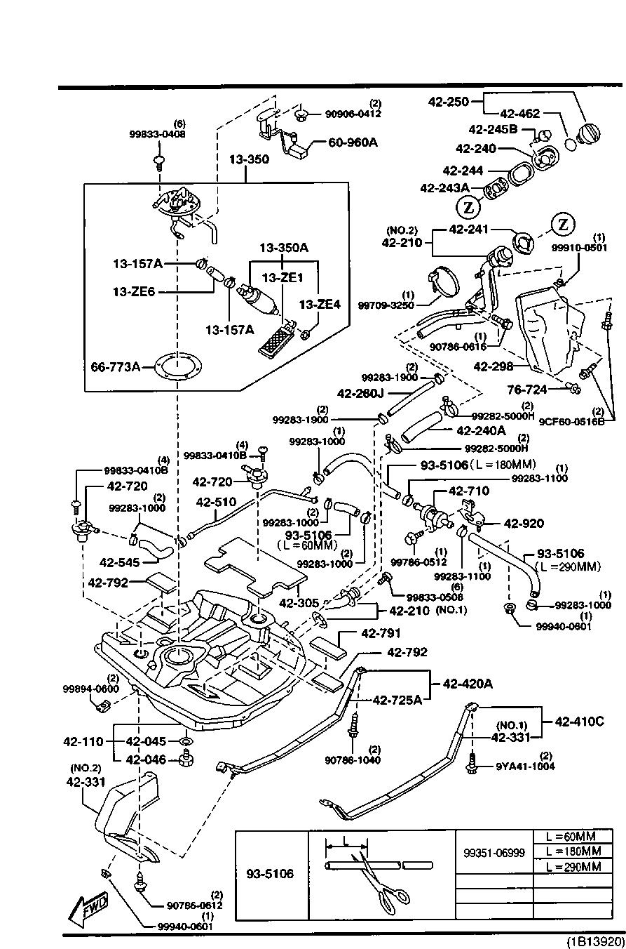 Mazda BC5A-42-210C Fuel Tank Filler Neck