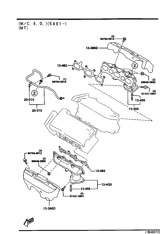 Mazda K802-13-450C Exhaust Manifold