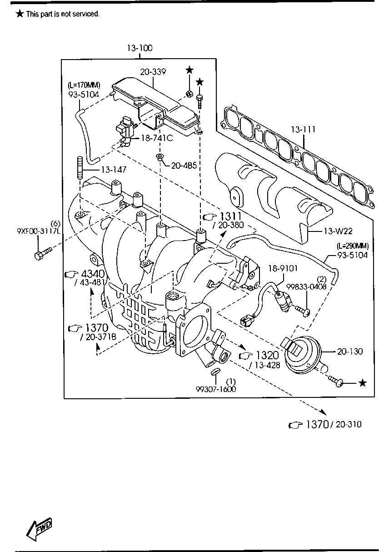 Mazda L3K9-13-111 Engine Intake Manifold Gasket
