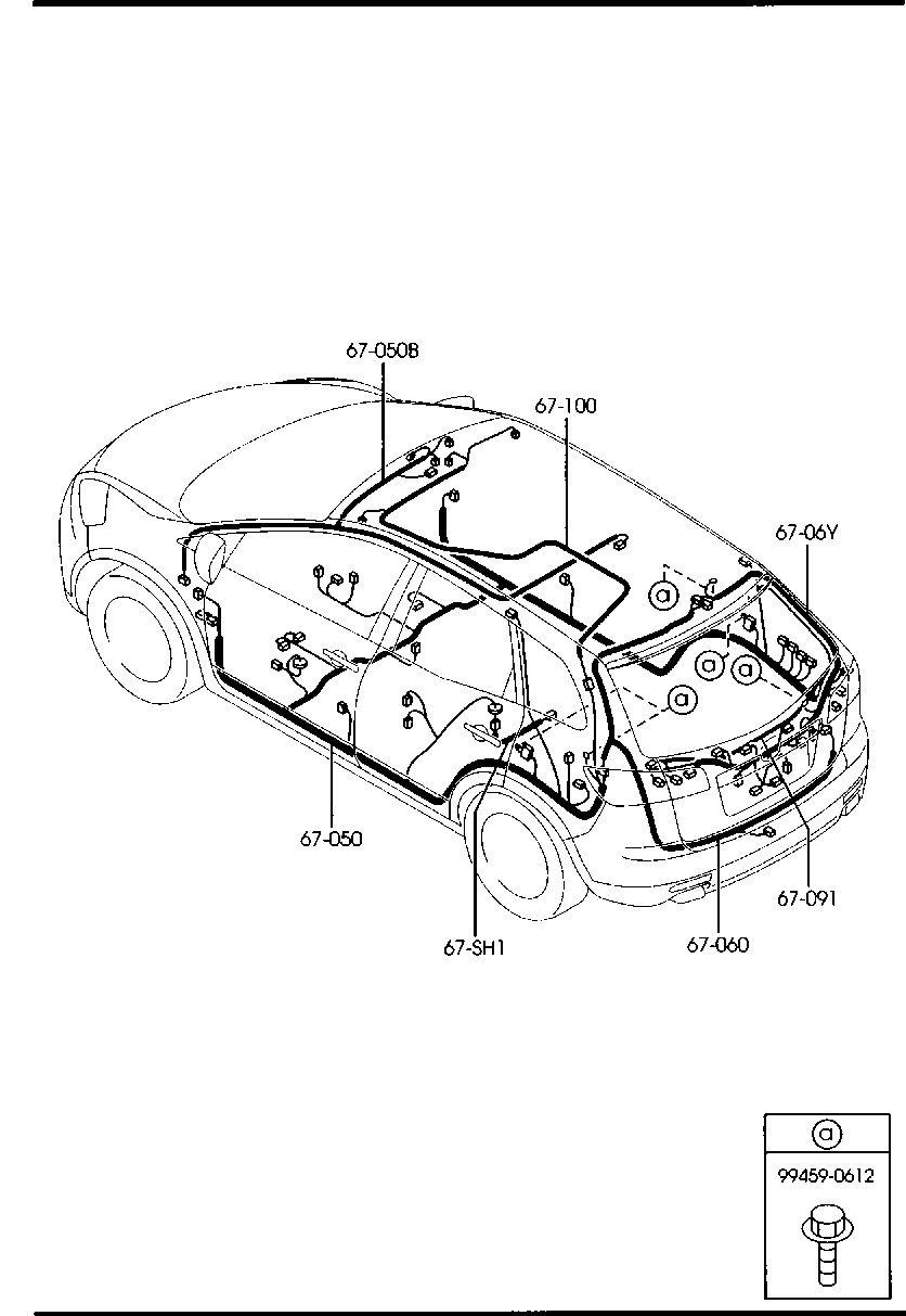 Europe Mazda Cx 9 Tb 09 2007 Body Electronics 6700a Front Rear Wiring Harness Diagrams List Of Parts
