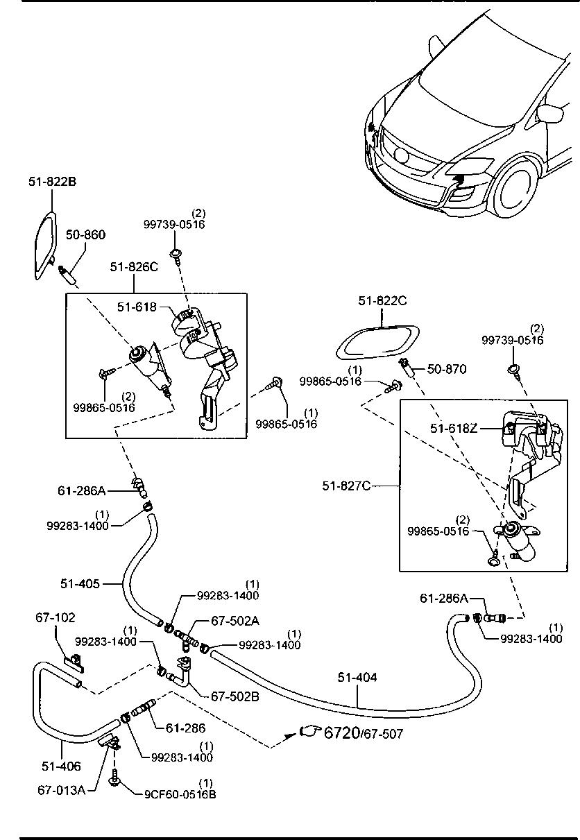 2009 mazda cx 9 parts diagram wiring diagrameurope, mazda cx 9 tb 07 2009 , body electronics, 5020a head lampcode,