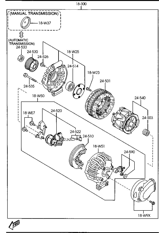 Europe Mazda Cx 7 Er 06 2009 Gasoline Engine 4 Cylinder Diagram List Of Parts