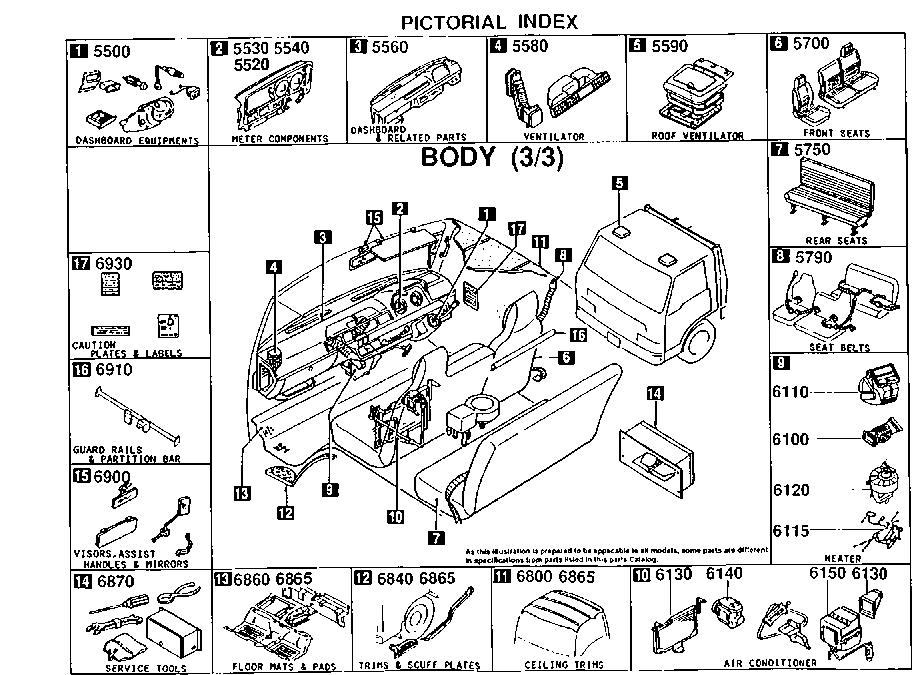 1984 Body Dashboard Interior Trim