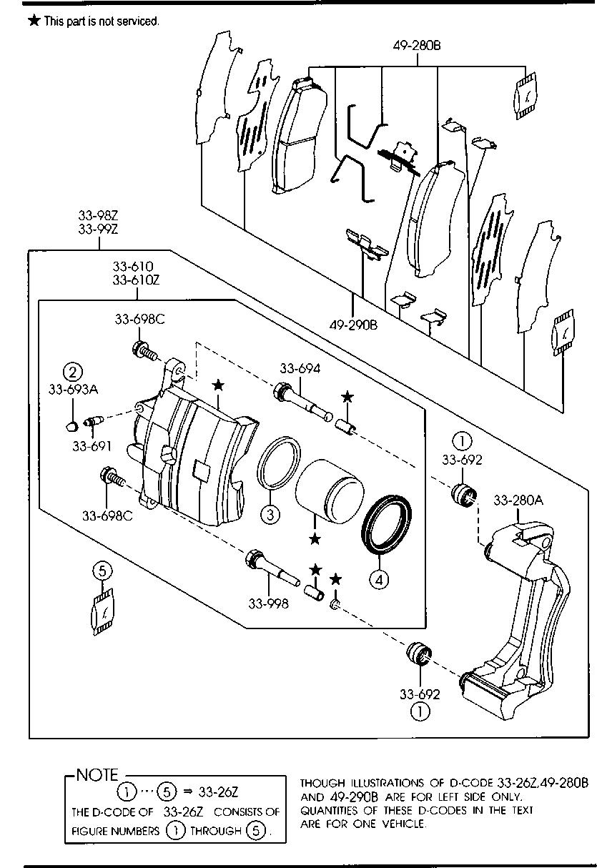 Mazda 6 Brake Parts