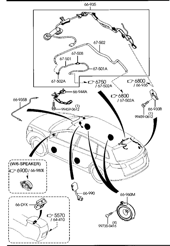 2007 Mazda 6 Parts Diagram