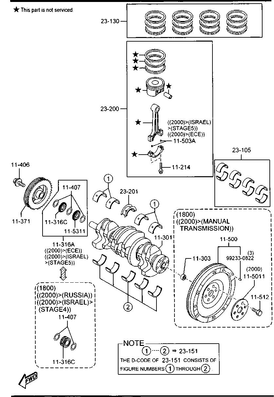 Mazda LFY1-11-SE0A Engine Connecting Rod Bearing Engine Parts ...