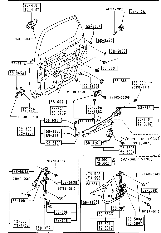 Mazda G212-73-560E Power Window Motor