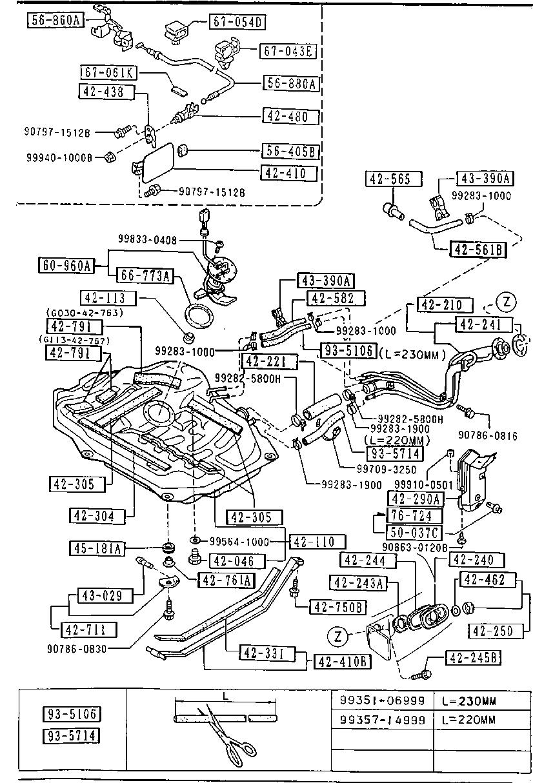 Mazda GJ29-42-210B Fuel Tank Filler Neck