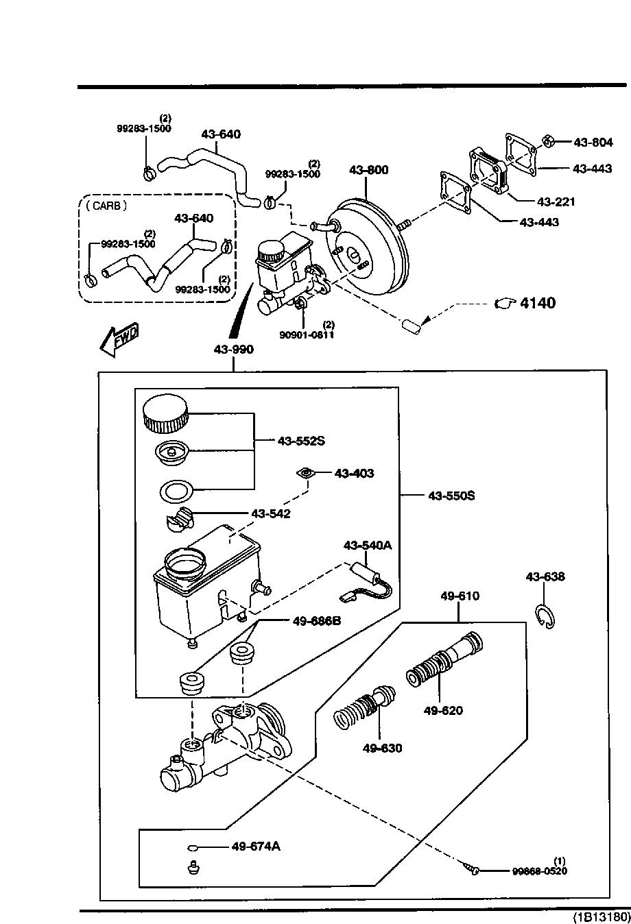 Mazda BC5F-43-40Z Brake Master Cylinder