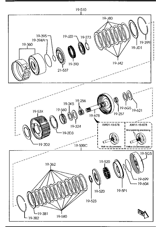 Mazda AW01-19-580 Auto Trans Clutch Plate