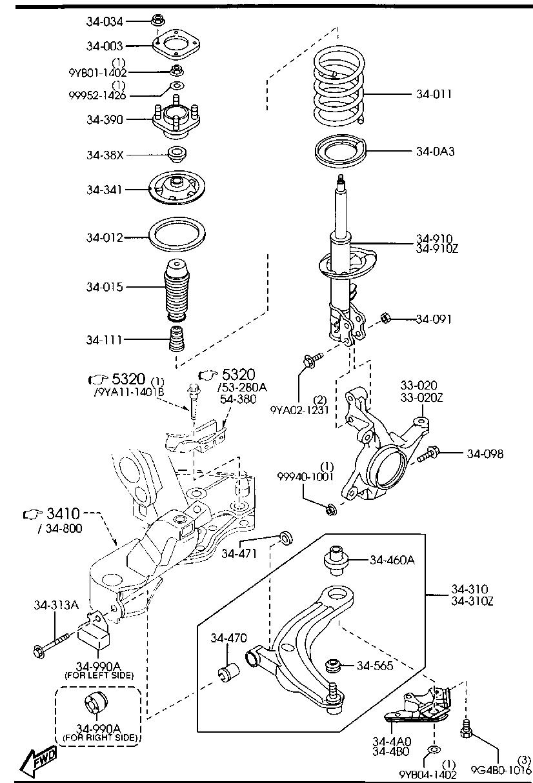 Mazda H260-34-460B Suspension Control Arm Bushing