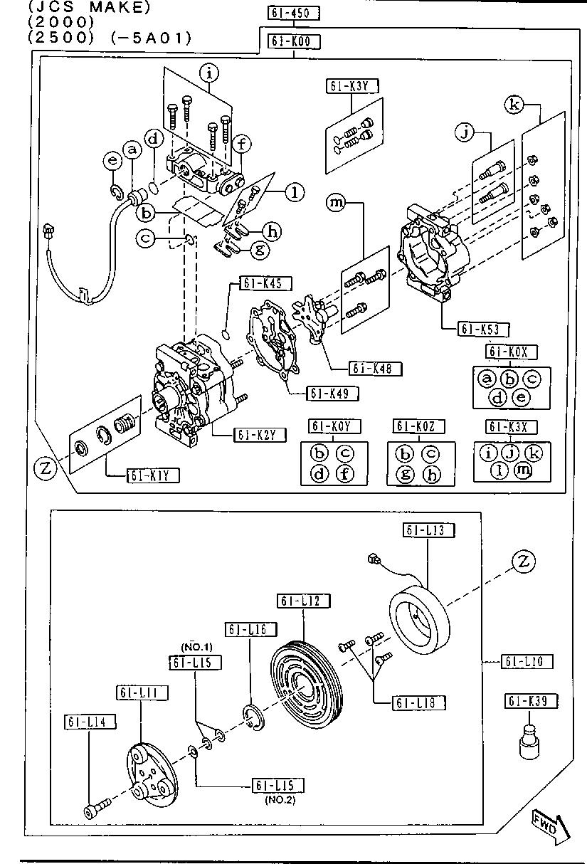 Mazda GB6H-61-L13 A//C Compressor Clutch Coil