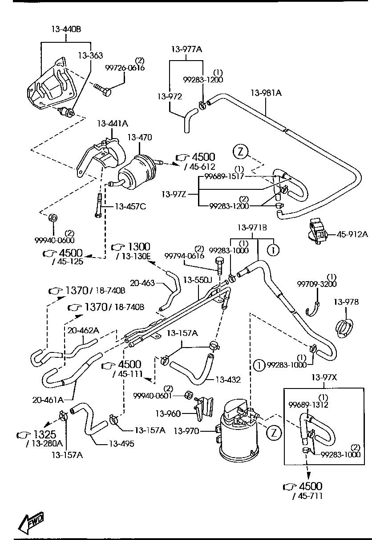 NK flexible conduite de l/'avant Mazda 2609702