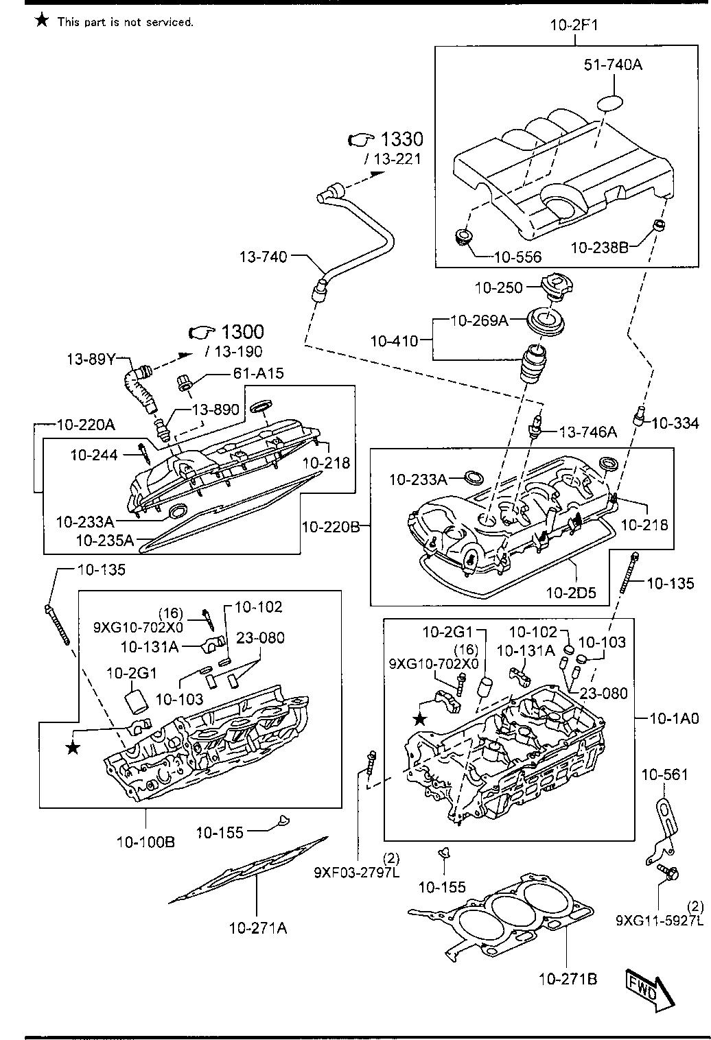 Mazda CY01-10-2D5 Engine Valve Cover Gasket
