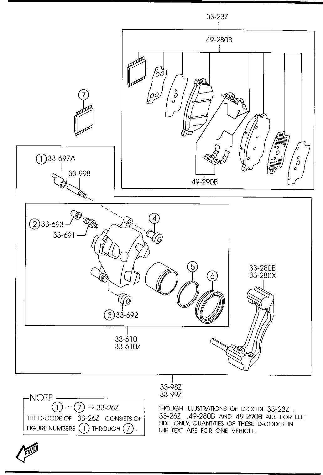 Mazda GJ6E-33-998 Disc Brake Caliper Guide Pin