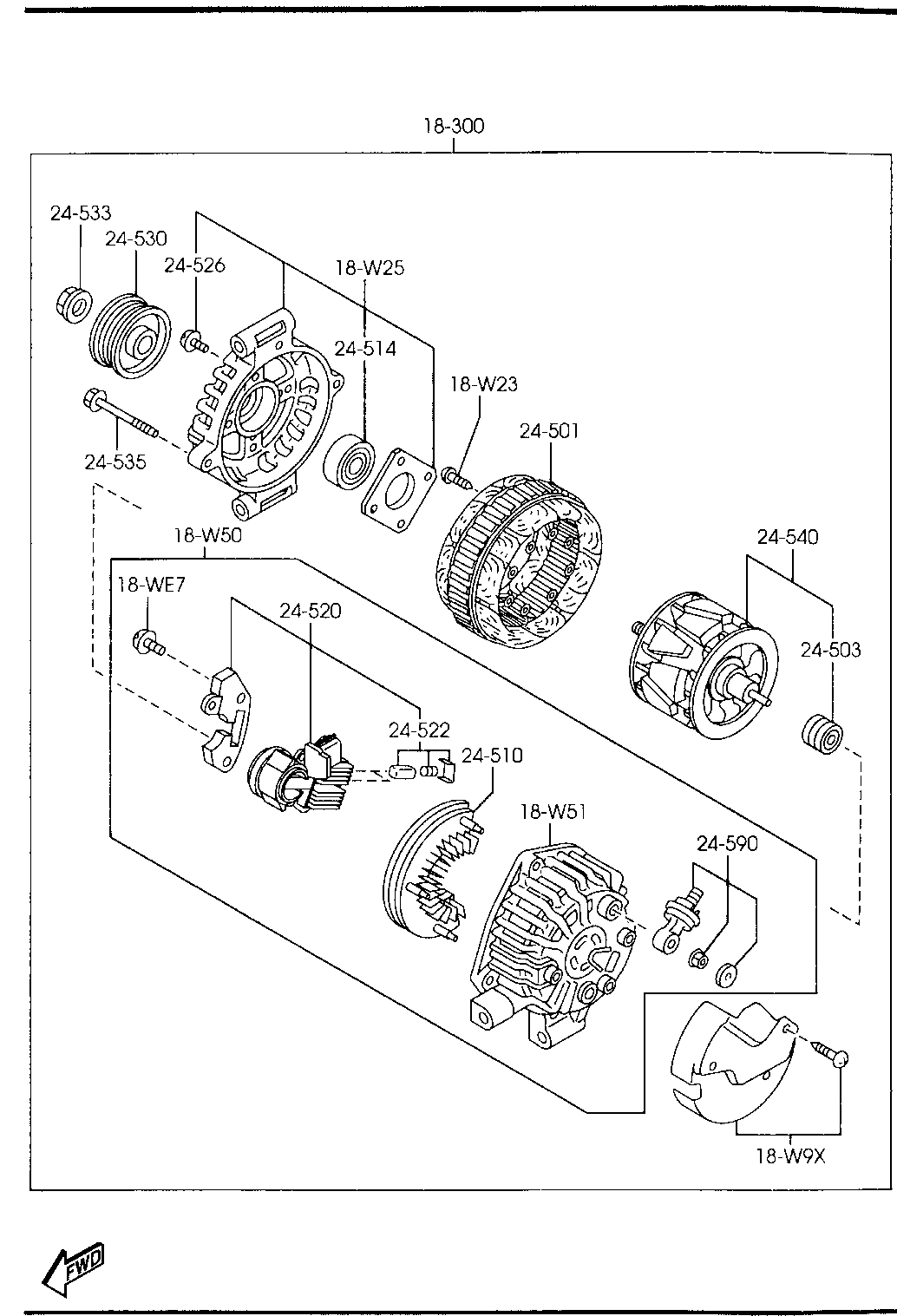 Mazda AJ51-18-W10 Alternator Pulley